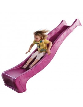 Plastic Slide for 1.5 metre high deck PINK Slide (3.0m) with WATER ATTACHMENT